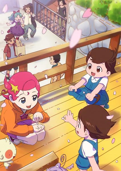 Tags: Anime, Pixiv Id 84020, Princess Comet, Fujiyoshi Nene, Rababou, Meteor (Princess Comet), Mishima Keisuke, Comet (Princess Comet), Imagawa Shun, Fujiyoshi Tsuyoshi, Mook, Instrument Case, Guitar Case