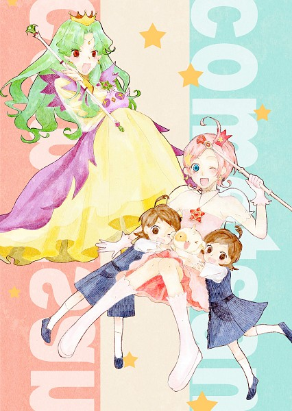 Tags: Anime, Pixiv Id 4105130, Princess Comet, Meteor (Princess Comet), Fujiyoshi Tsuyoshi, Comet (Princess Comet), Fujiyoshi Nene, Rababou, Mook, Fanart, Fanart From Pixiv, Pixiv