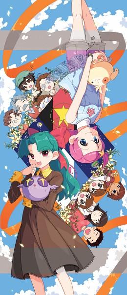 Tags: Anime, Pixiv Id 3631645, Princess Comet, Fujiyoshi Nene, Meteor (Princess Comet), Rababou, Comet (Princess Comet), Mishima Keisuke, Imagawa Shun, Fujiyoshi Tsuyoshi, Mook, Pixiv, Fanart