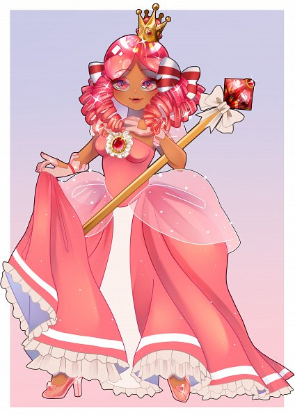 Tags: Anime, Nami Kimi, Cookie Run, Princess Cookie, PNG Conversion, Collaboration, Fanart