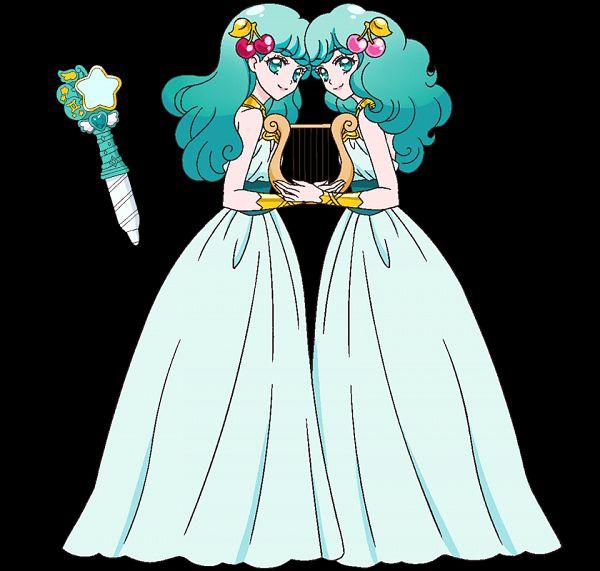 Tags: Anime, Takahashi Akira, Toei Animation, Star☆Twinkle Precure, Princess Gemini, Zodiac (Personification), Lyre, Vector, Official Art