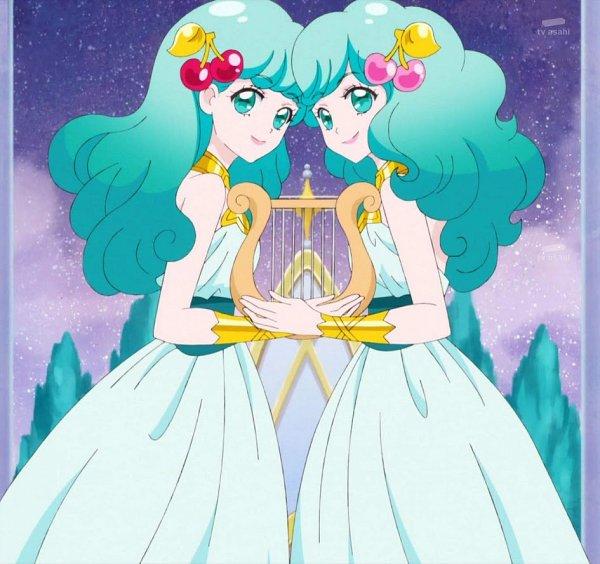 Tags: Anime, Star☆Twinkle Precure, Princess Gemini, Harp, Zodiac (Personification), Screenshot