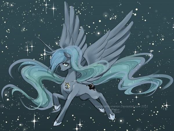 Tags: Anime, Karolinanoumenon, My Little Pony, Princess Luna, Pony, Alicorn, deviantART, Fanart From DeviantART, Fanart