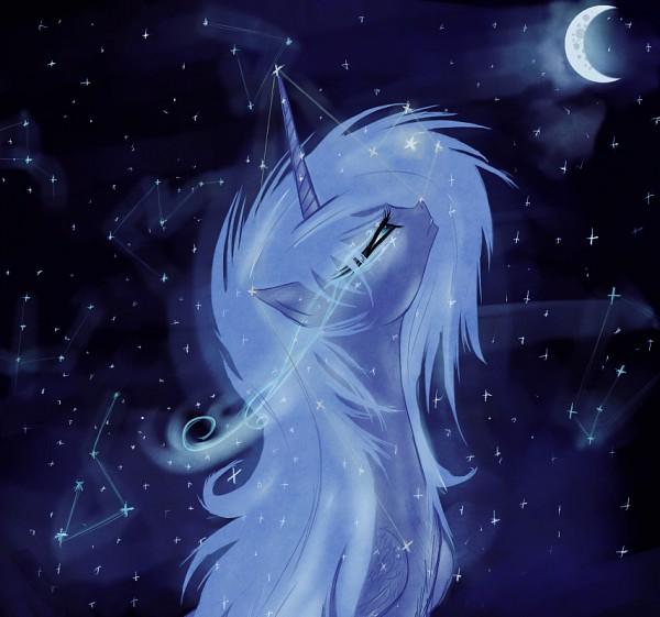 Tags: Anime, Confix, My Little Pony, Princess Luna, Alicorn, Fanart From DeviantART, deviantART, Fanart