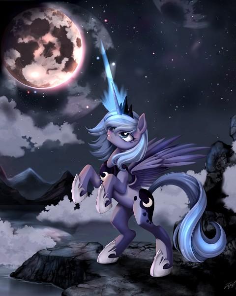 Tags: Anime, Ponykillerx, My Little Pony, Princess Luna, Mark, 2400x3000 Wallpaper, Pony, Alicorn, Cutie Mark, Fanart From DeviantART, deviantART, Wallpaper, Fanart