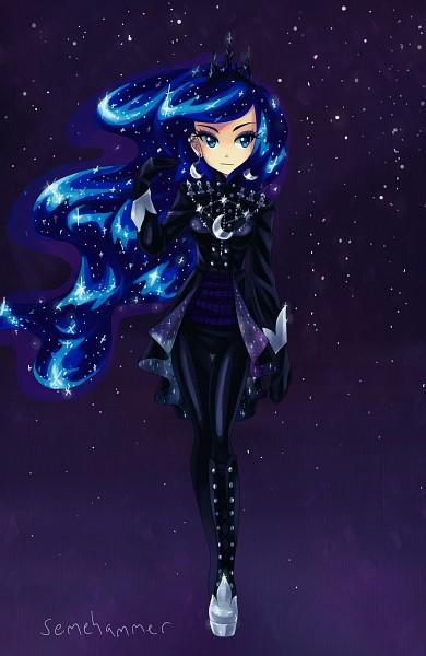 Tags: Anime, Semehammer, My Little Pony, Princess Luna, Platform Shoes, Glowing Hair, Mobile Wallpaper, Fanart