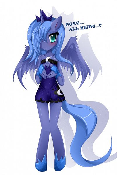 Tags: Anime, Lovemimi, My Little Pony, Princess Luna, Alicorn, deviantART, Fanart, Fanart From DeviantART