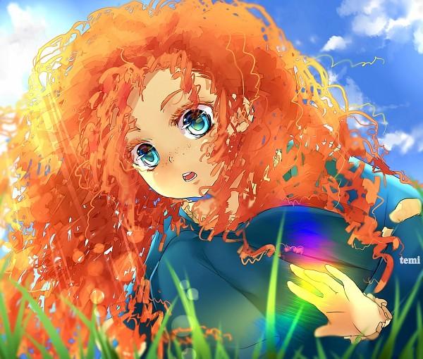 Tags: Anime, Temiji, Brave (Disney), Princess Mérida, Wide Eyes, Colored Eyelashes, deviantART