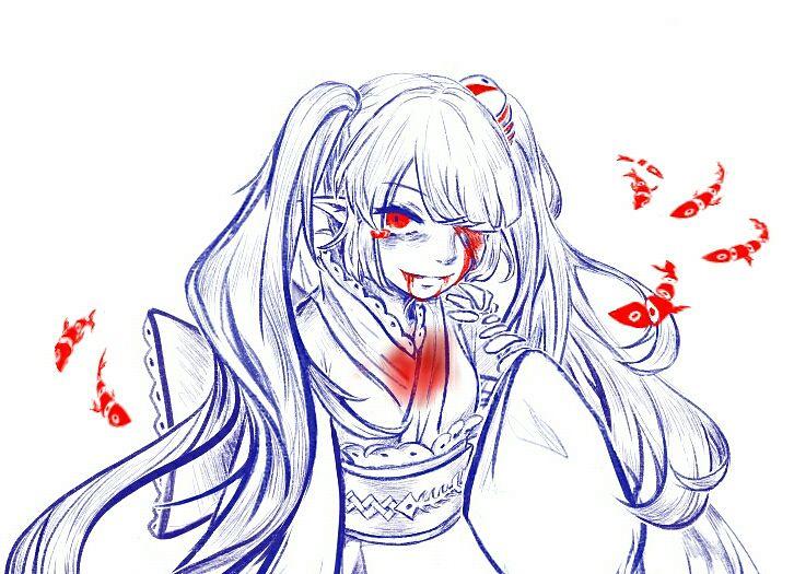 Tags: Anime, Pixiv Id 10536469, Oounabara to Wadanohara, Princess Mikotsu, Fanart From Pixiv, Pixiv, Fanart