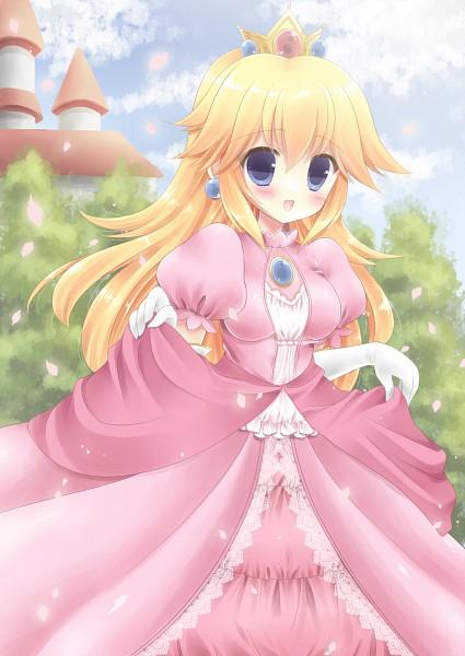 Tags: Anime, Kouta. (Pixiv1101373), Super Mario Bros., Princess Peach, Mobile Wallpaper, Fanart, Fanart From Pixiv, Pixiv