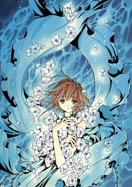 Tags: Anime, CLAMP, Tsubasa: RESERVoir CHRoNiCLE, Tsubasa Album de Reproductions, Princess Sakura, Official Art, Scan, Mobile Wallpaper