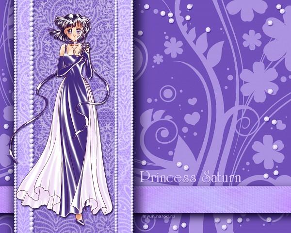 Tags: Anime, Myun, Bishoujo Senshi Sailor Moon, Princess Saturn, Tomoe Hotaru, Gown, Purple Handwear, Purple Gloves, Wallpaper, Fanart