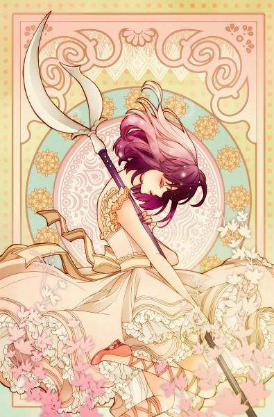 Tags: Anime, sizh, Bishoujo Senshi Sailor Moon, Tomoe Hotaru, Princess Saturn, Silence Glaive, Art Nouveau, Glaive, Fanart, Fanart From Pixiv, Pixiv, Mobile Wallpaper