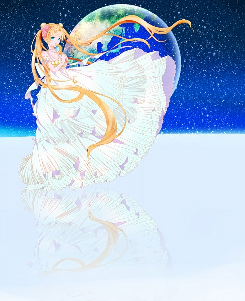Tags: Anime, Pixiv Id 2537029, Bishoujo Senshi Sailor Moon, Princess Serenity, Tsukino Usagi, Silver Crystal, Moon Stick, Fanart From Pixiv, Fanart, Pixiv