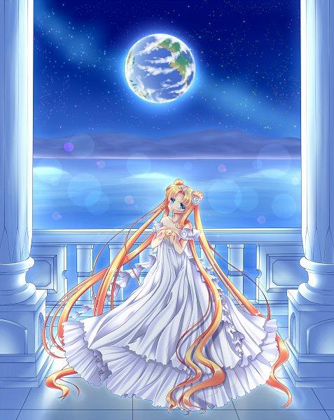 Tags: Anime, Shirato Sayuri, Bishoujo Senshi Sailor Moon, Princess Serenity, Tsukino Usagi, Silver Millenium, Fanart From Pixiv, Fanart, Pixiv