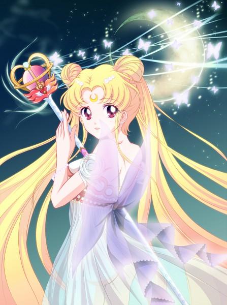 Tags: Anime, Bishoujo Senshi Sailor Moon, Tsukino Usagi, Princess Serenity, Eternal Tiare, Mi-ra, Scepter, Pixiv