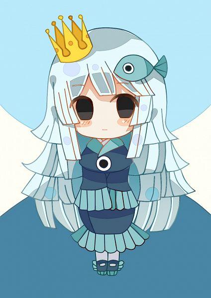 Tags: Anime, Pixiv Id 11373619, Oounabara to Wadanohara, Princess Uomi, Fanart, Fanart From Pixiv, Pixiv