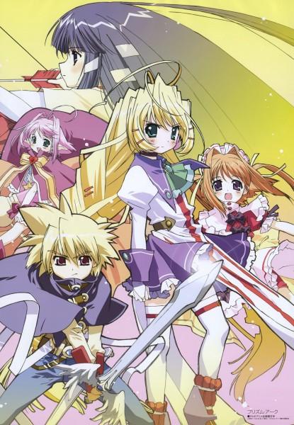 Tags: Anime, Ebata Risa, Megami #84 2007-05, Prism Ark, Pricia, Hyaweh, Kagura (Prism Ark), Filia (Prism Ark), Fel, Scan, Official Art