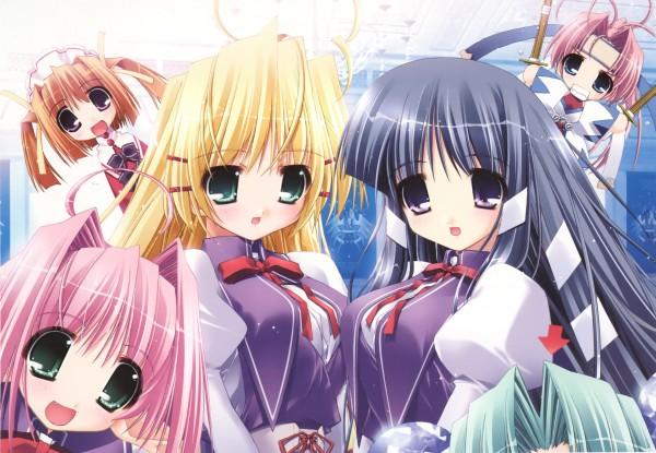 Tags: Anime, Ohno Tetsuya, Sweet Girls, Prism Ark, Pricia, Kagura (Prism Ark), Filia (Prism Ark), Karin Mibu, Fel, Dengeki Hime