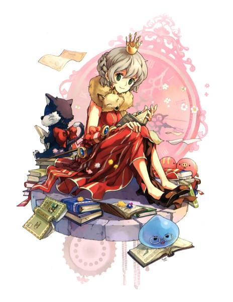 Tags: Anime, Tiv, Ragnarok Online: 5th Anniversary Memorial Book Artbook, RAGNARÖK ONLINE, Professor (Ragnarok Online), Aquaring, Poring, Fanart, Transcendent Second Class