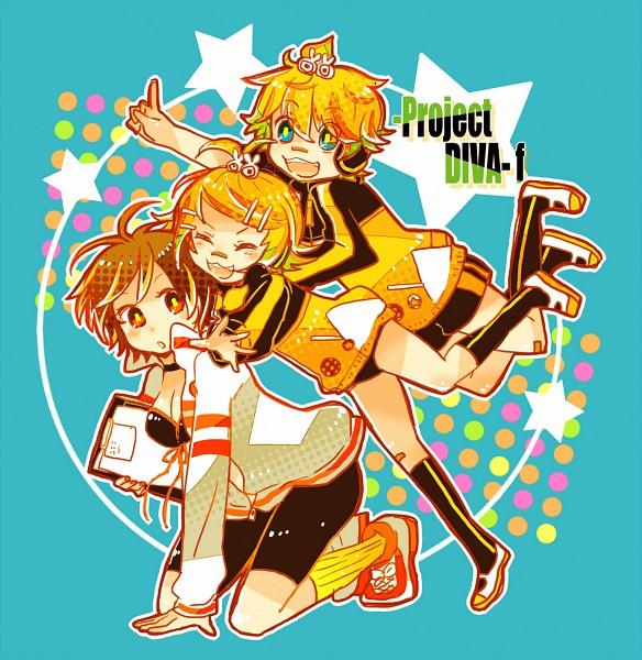 Tags: Anime, 7:24, Project DIVA F, VOCALOID, MEIKO (VOCALOID), Kagamine Len, Kagamine Rin, Rabbit Clip, Patch On The Nose, Pounce, Project DIVA Whistle, Project DIVA Stylish Energy