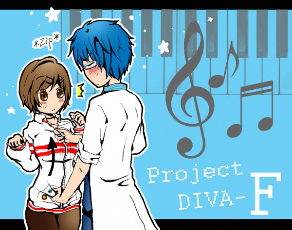Tags: Anime, Pixiv Id 2398517, Project DIVA F, VOCALOID, KAITO, MEIKO (VOCALOID), deviantART, Fanart, Project DIVA Genius, Pixiv, Project DIVA Whistle