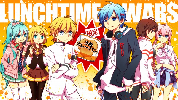Tags: Anime, Shichigatsu Fuu, Project DIVA F, VOCALOID, Megurine Luka, KAITO, Hatsune Miku, Kagamine Len, Kagamine Rin, MEIKO (VOCALOID), Wallpaper, Project DIVA Whistle, Project DIVA Afterschool Mode