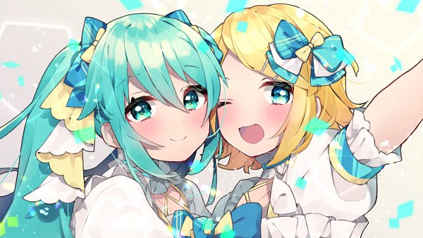 Tags: Anime, Pixiv Id 24006385, Project Sekai Colorful Stage! feat. Hatsune Miku, VOCALOID, Kagamine Rin, Hatsune Miku, Fanart From Pixiv, Fanart, Pixiv