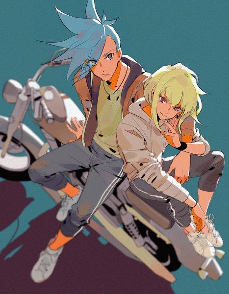 Tags: Anime, Iya-chen, Promare, Lio Fotia, Galo Thymos