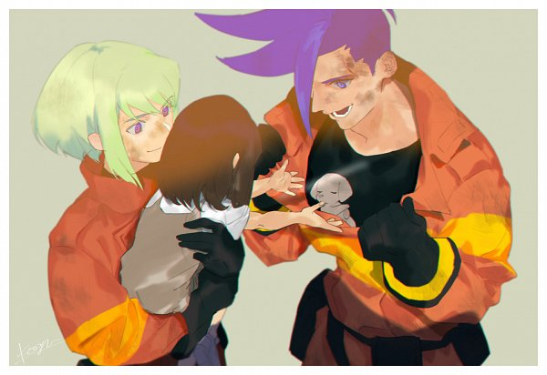 Tags: Anime, Pixiv Id 12447800, Promare, Fan Character, Lio Fotia, Galo Thymos, Hugging Animal, Fanart, Fanart From Pixiv, Pixiv