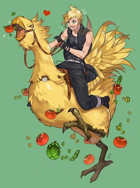 Tags: Anime, Pixiv Id 14048084, Final Fantasy XV, Prompto Argentum, Chocobo, Fanart, Fanart From Pixiv, Mobile Wallpaper, Pixiv