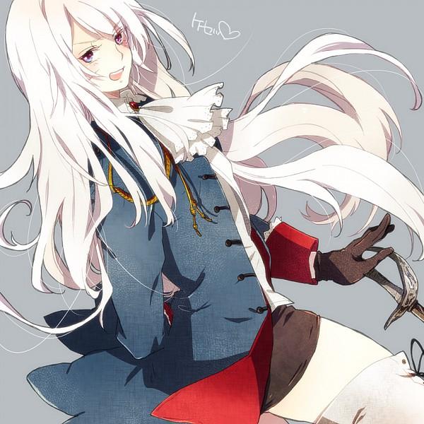 Tags: Anime, Guttary, Axis Powers: Hetalia, Prussia (Female), Fanart, Nyotalia, Pixiv