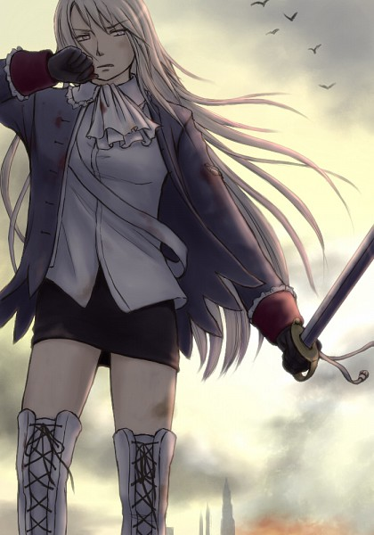 Tags: Anime, Pixiv Id 755625, Axis Powers: Hetalia, Prussia (Female), Nyotalia, Mobile Wallpaper
