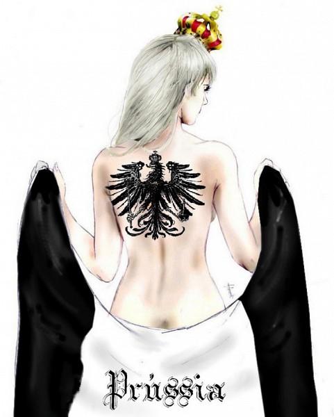 Tags: Anime, Axis Powers: Hetalia, Prussia (Female), Prussian Eagle, Nyotalia, Artist Request