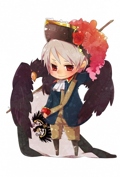 Tags: Anime, Axis Powers: Hetalia, Prussia, Eagle, Artist Request, Mobile Wallpaper