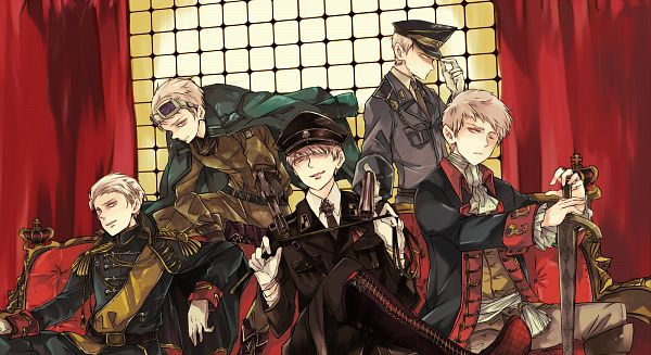 Tags: Anime, gorogoronyanko, Axis Powers: Hetalia, Prussia, Teutonic Order, Iron Cross, Pixiv, Fanart From Pixiv, Wallpaper, Fanart, Facebook Cover