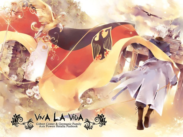Tags: Anime, mlcamaro, Axis Powers: Hetalia, Prussia, Emblem, Eagle, Wallpaper, Pixiv, Fanart, Fanart From Pixiv, Germanic Countries