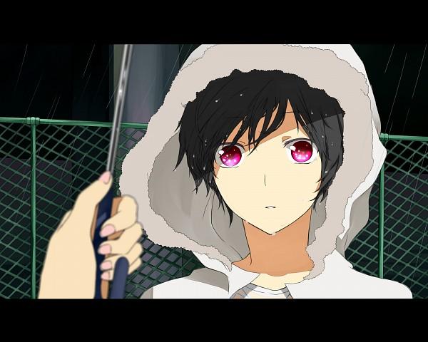 Tags: Anime, Kurobara, DURARARA!!, Orihara Izaya, Psyche, Towel On Head, Wide Eyes, Fanart From Pixiv, Pixiv, Artist Request, Fanart, Psychedelic Dreams