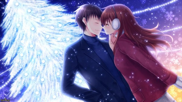 Tags: Anime, Tsubaki Chisa, TOMMY WALKER, Psychic Hearts, Snowflake Print, Facebook Cover, Wallpaper