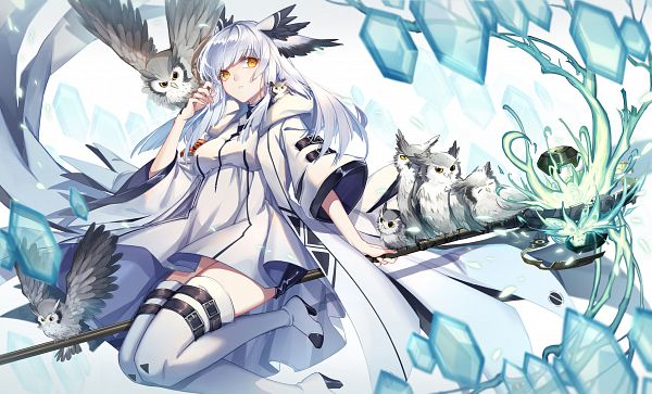 Tags: Anime, Pixiv Id 4364773, Arknights, Ptilopsis, Fanart From Pixiv, Pixiv, Fanart