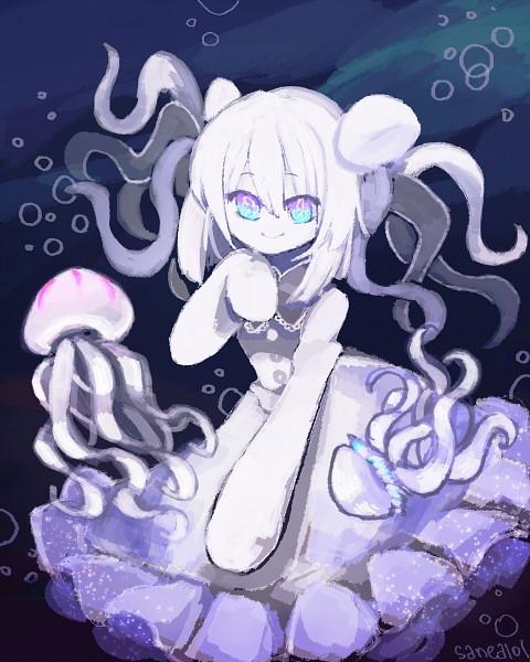 Tags: Anime, Lantrat, Oounabara to Wadanohara, Pulmo, Jellyfish, No Nose, PNG Conversion, deviantART, Fanart, Fanart From DeviantART