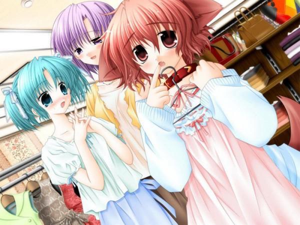 Tags: Anime, Klein (Studio), Pure Pure, Yuuki Miwa, Hinata (Pure Pure), Store, Shopping, CG Art