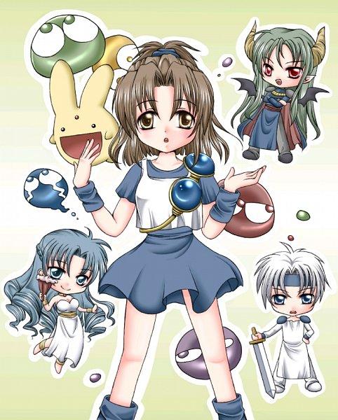 Tags: Anime, Pixiv Id 1797059, Puyo Puyo, Arle Nadja, Satan (Puyo Puyo), Schezo Wegey, Rulue, Carbuncle (Puyo Puyo)
