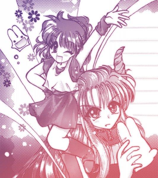 Tags: Anime, Pixiv Id 685262, Puyo Puyo, Satan (Puyo Puyo), Carbuncle (Puyo Puyo), Arle Nadja