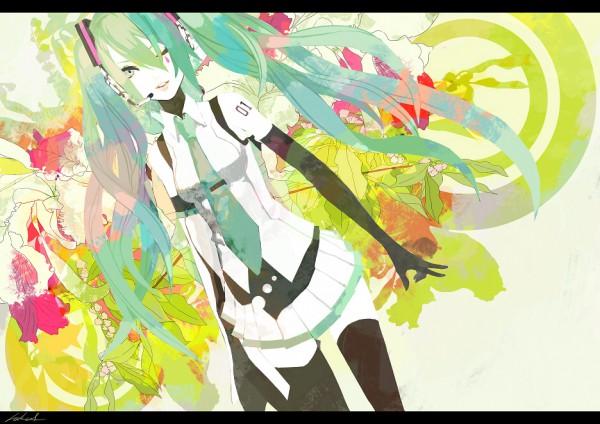 Tags: Anime, hakus, VOCALOID, Hatsune Miku, Fanart, Puzzle (VOCALOID), Pixiv