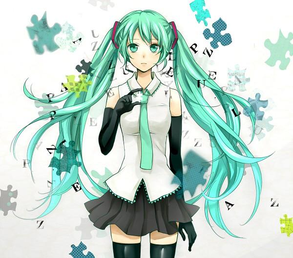 Tags: Anime, Yuzuki Kihiro, VOCALOID, Hatsune Miku, Puzzle Piece, Puzzle (VOCALOID), Fanart, Pixiv