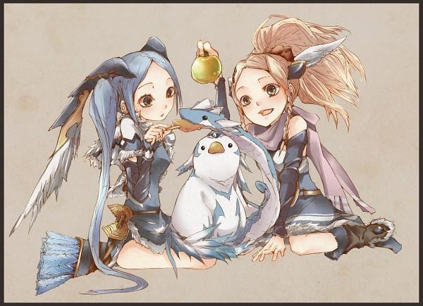 Tags: Anime, Hoshino (Pixiv33586), Puzzle & Dragons, Cockatrice (P&D), Idunn, Idunna, Fanart, Idunn&Idunna