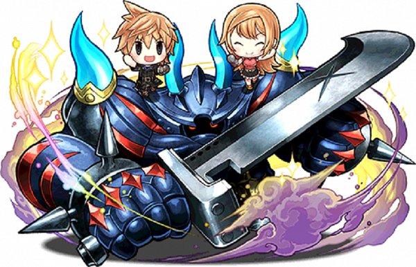 Tags: Anime, Nomura Tetsuya, SQUARE ENIX, Puzzle & Dragons, World of Final Fantasy, Reynn (WOFF), Lann (WOFF), Upscale, Official Art