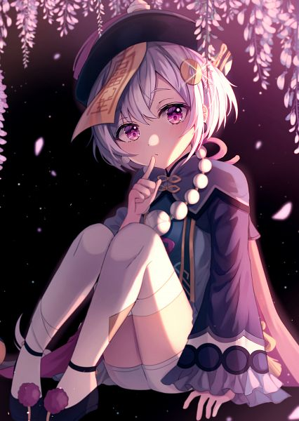 Tags: Anime, Pixiv Id 52389121, Genshin Impact, Qiqi, Wisteria