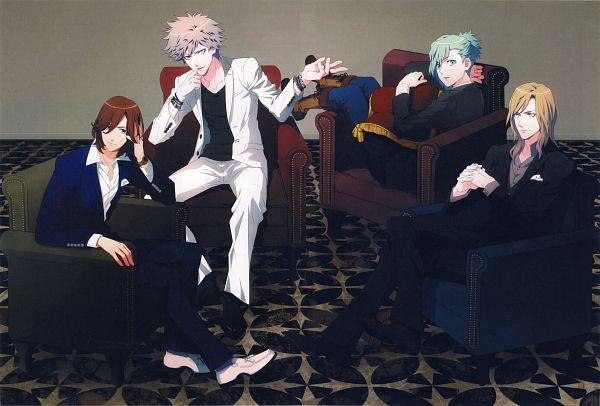 Tags: Anime, BROCCOLI, Uta no Prince-sama Debut Official Prelude Book, Uta no☆prince-sama♪, Kurosaki Ranmaru, Mikaze Ai, Kotobuki Reiji, Camus (Utapri), Self Scanned, Scan, Official Art, Quartet Night